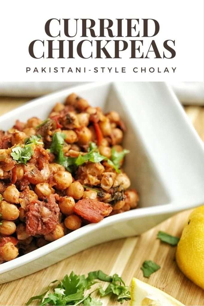 Pakistani-style curried chickpeas
