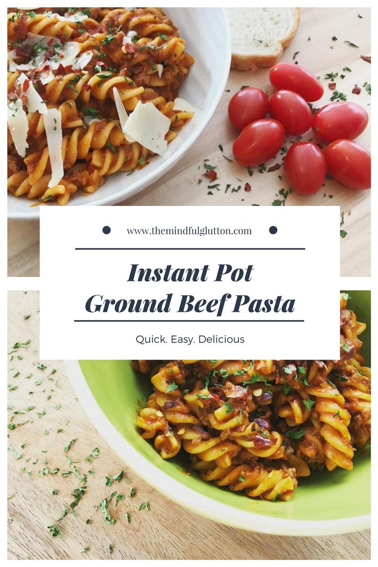 Instant Pot Ground Beef Pasta