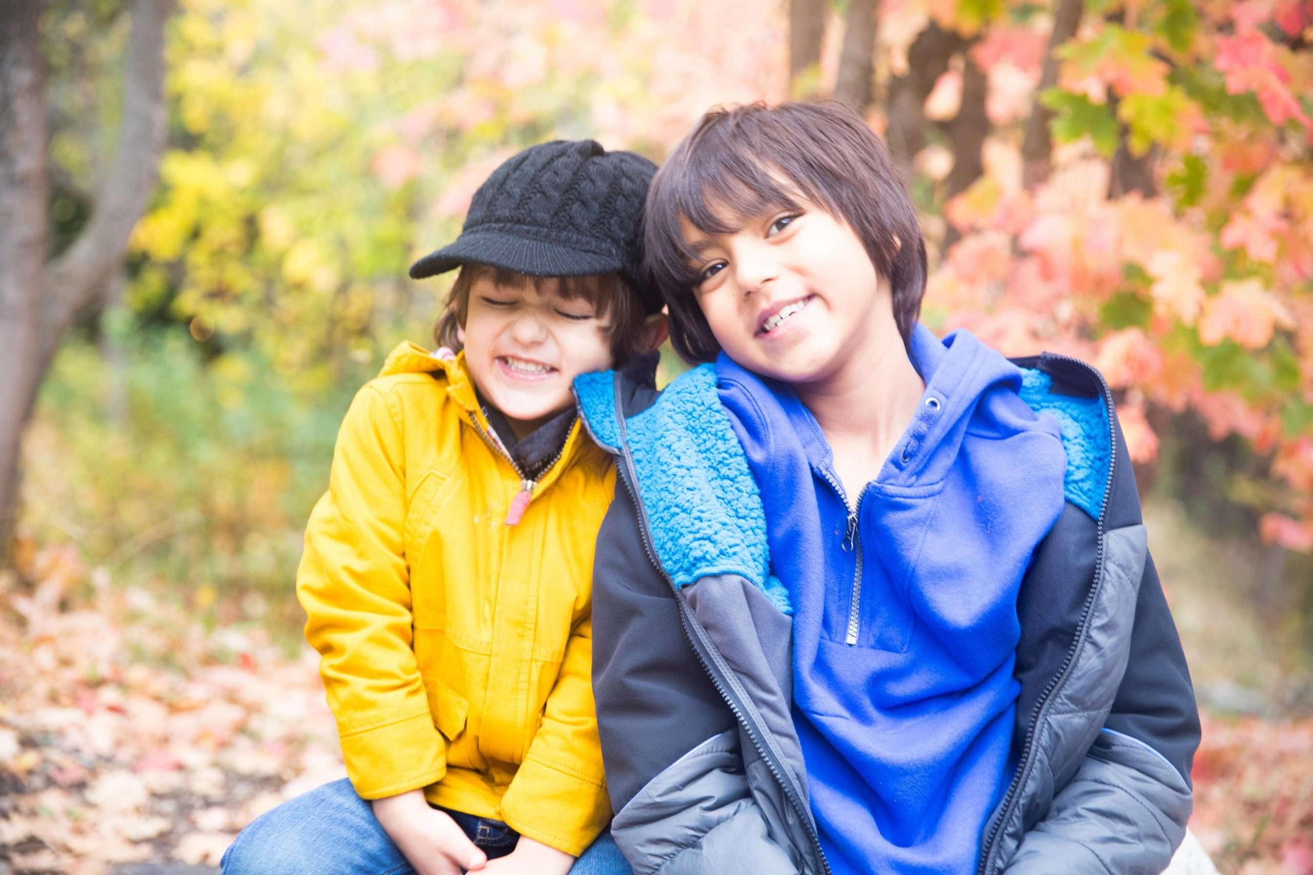happy kids brothers in Utah